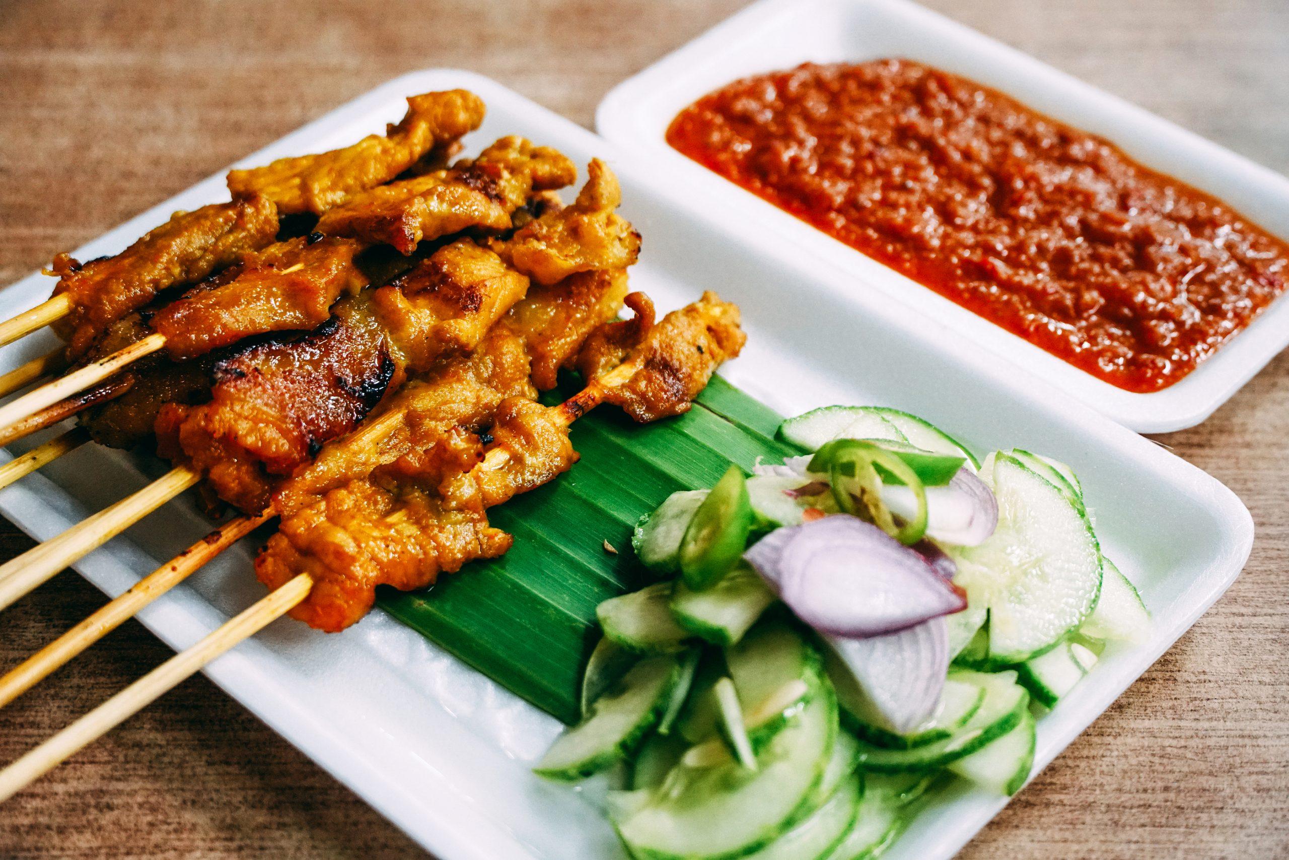 Tasty BBQ Pork Satay
